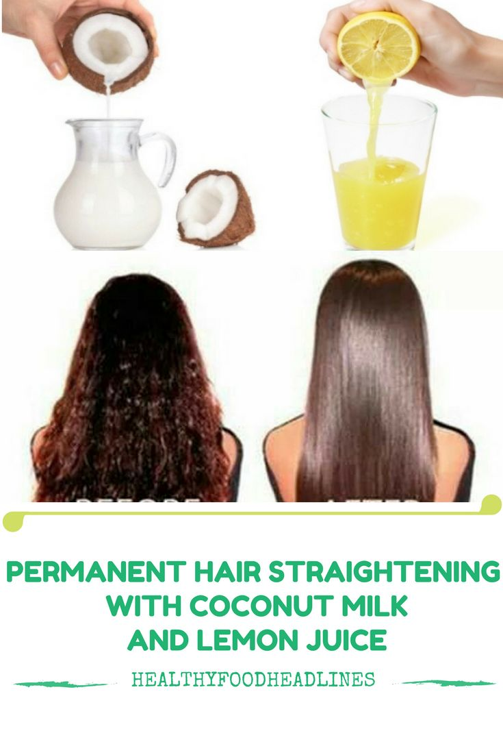 PERMANENT HAIR STRAIGHTENING WITH COCONUT MILK AND LEMON JUICE