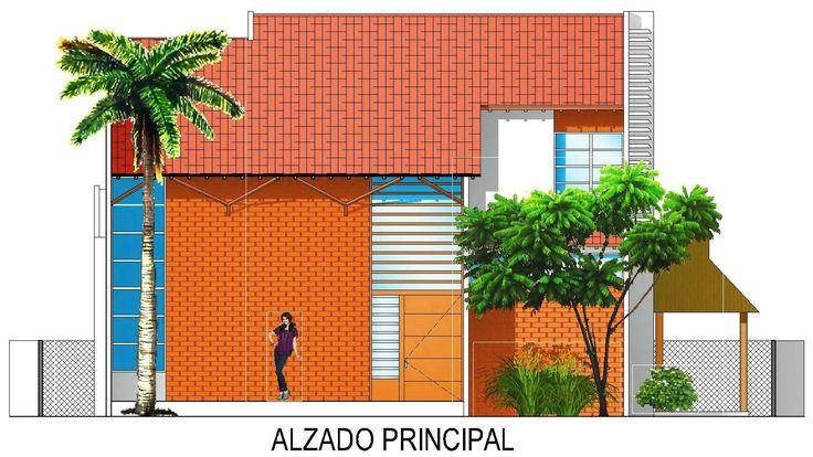 Casa G+A: Alzado principal  (Este) / G+A house: Main facade (East).