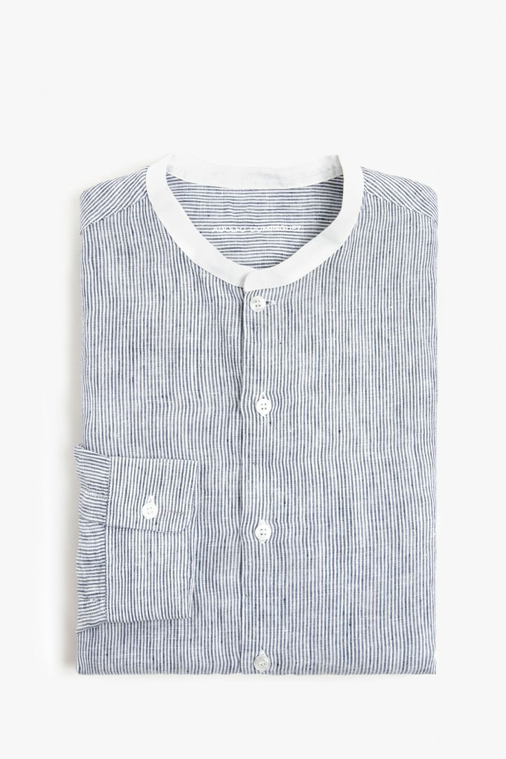 Striped Linen Shirt - casual shirts | Adolfo Dominguez