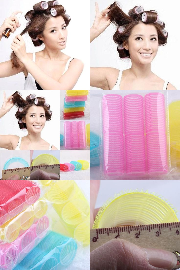 [Visit to Buy] 6Pcs/Sets Women Girls Big Self Grip Hair Rollers Cling Any Size DIY Hair Curlers Beauty Tools #Advertisement
