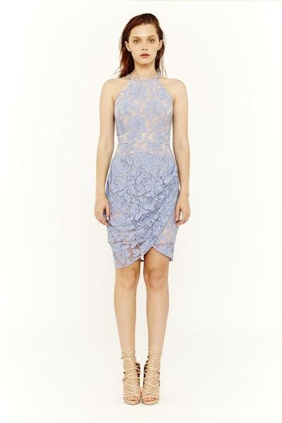Cooper St - You Make Me Lace Dress Colour Slate By Cooper St Clothing