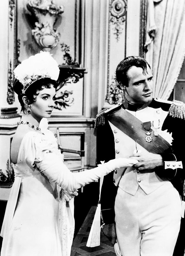 Jean Simmons and Marlon Brando in Désirée (1954). This book started my Junior Hi obsession with Napoleon. Every report I had to do was about Napoleon.