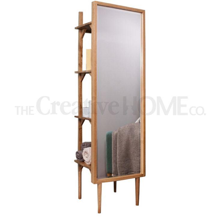 Stand alone mirror storage