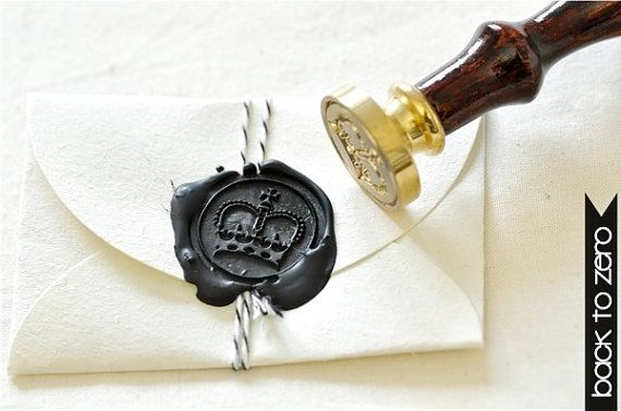 Royal Crown Gold Plated Wax Seal Stamp x 1