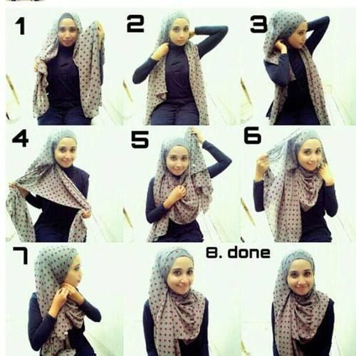 hijab styles for round faces - Google Search