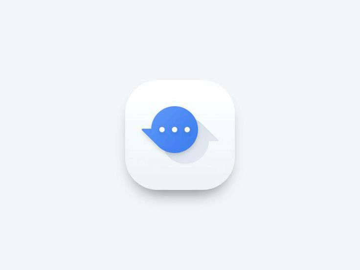 Messenger app icon - animation by J. Brown