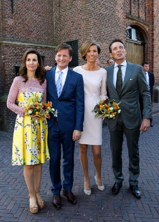 (L-R) Dutch Princess Anita, her husband Prince Pieter-Christiaan, Princess Marilene and her husband Prince Maurits and attend the 2014 King's Day celebrations in De Rijp