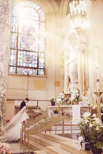 The Sacrament of Marriage ~ beautiful Catholic wedding photo!