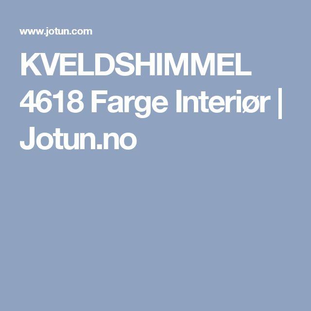 KVELDSHIMMEL 4618 Farge Interiør | Jotun.no
