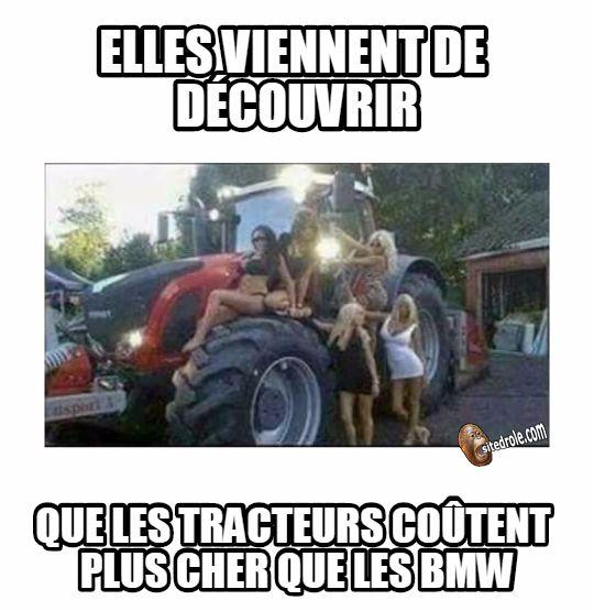 Femmes a tracteurs... image drole
