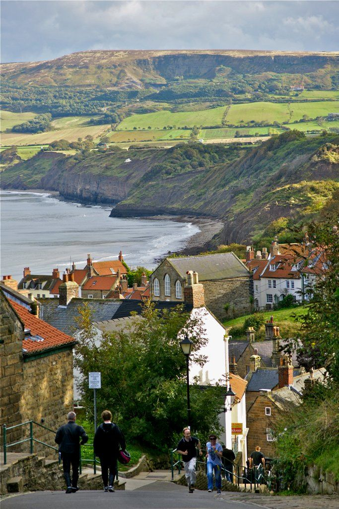 Robin Hood's Bay within the North York Moors National Park, on the coast of North Yorkshire, England  (by ichbinsEvi)