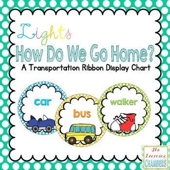 Lights Polka Dot Transportation Labels {Editable}