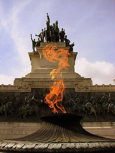 The Independence flame never stops burning in front of Museu do Ipiranga, the site where Brazil was declared independent from Portugal in 1822.