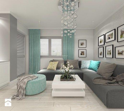 Aranżacje wnętrz - Salon: Z nutą turkusu - Salon, styl klasyczny - LIVING BOX…