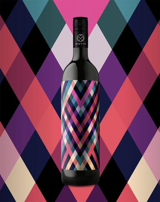 Geometric patterns reflect wine tasting experience.