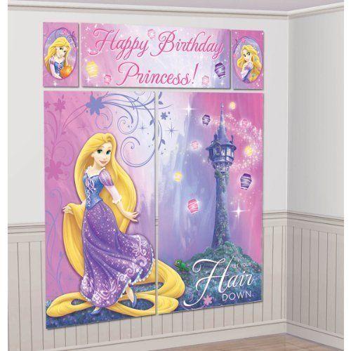 1 X Rapunzel Scene Setter Wall Decorating Kit Tangled Disney Birthday Girl Supplies by Amscan @ niftywarehouse.com #NiftyWarehouse #Disney #DisneyMovies #Animated #Film #DisneyFilms #DisneyCartoons #Kids #Cartoons