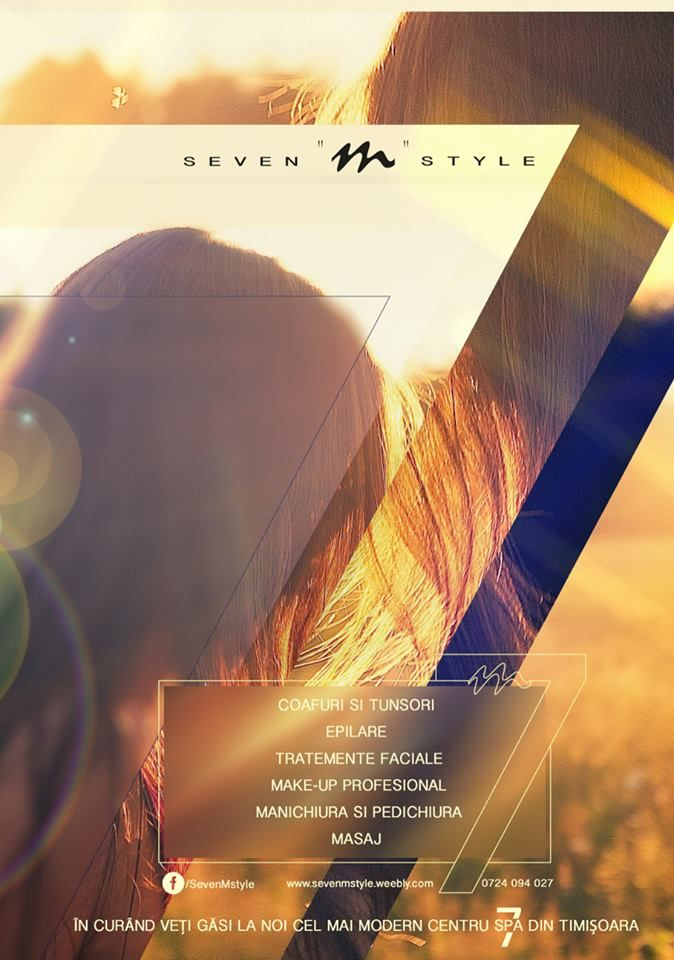 Smooth poster made by ADwiser for a beauty salon from Timisoara Romania where 7 is the main theme.