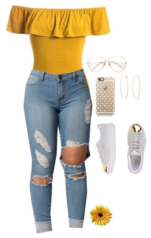 """""""Untitled #532"""" by tdgaaf on Polyvore featuring Sans Souci, Casetify, Puma and Maria Francesca Pepe"""