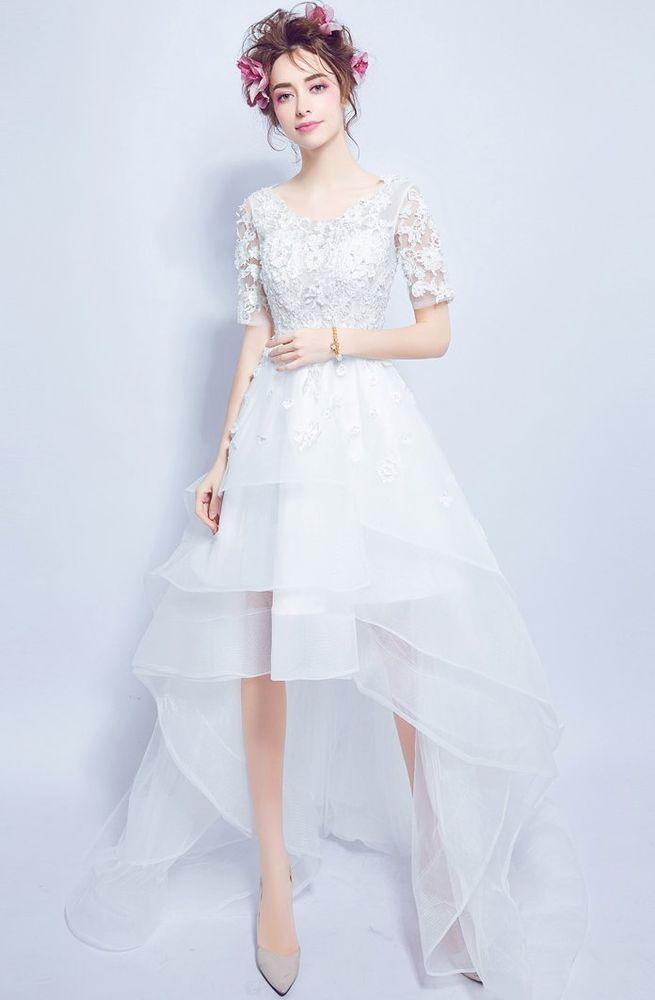 New Wedding Dress Bridal gown any size custom 2 4 6 8 10 12 14 Bohemian high low