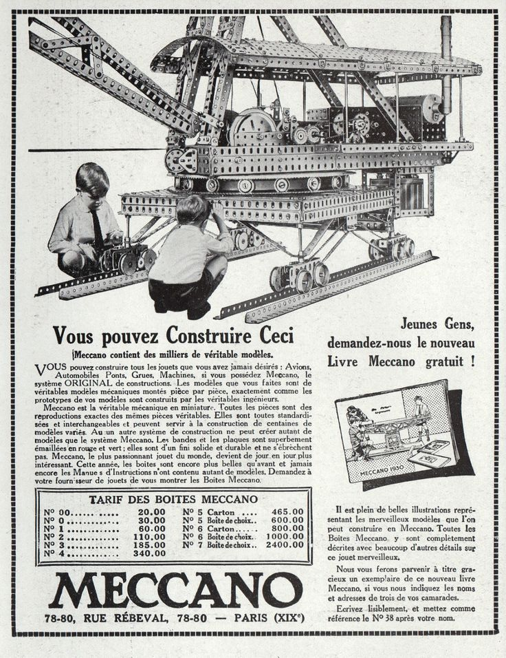 152 best images about meccano 100 years of advertising on pinterest. Black Bedroom Furniture Sets. Home Design Ideas
