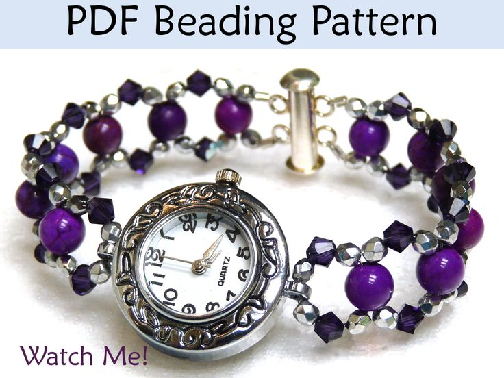 Watch Me! Beaded Watch Bracelet PDF Beading Pattern