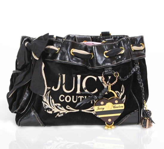 Juicy Couture Black Heart Tote on glamouronthego.co.uk