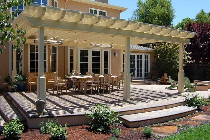 17 best images about patio cover designs on pinterest for Deck trellis