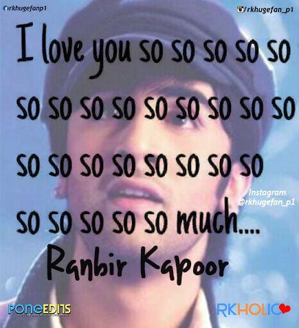 i love u ranbir  rk huge fan p1 <3 <3 <3 <3 <3