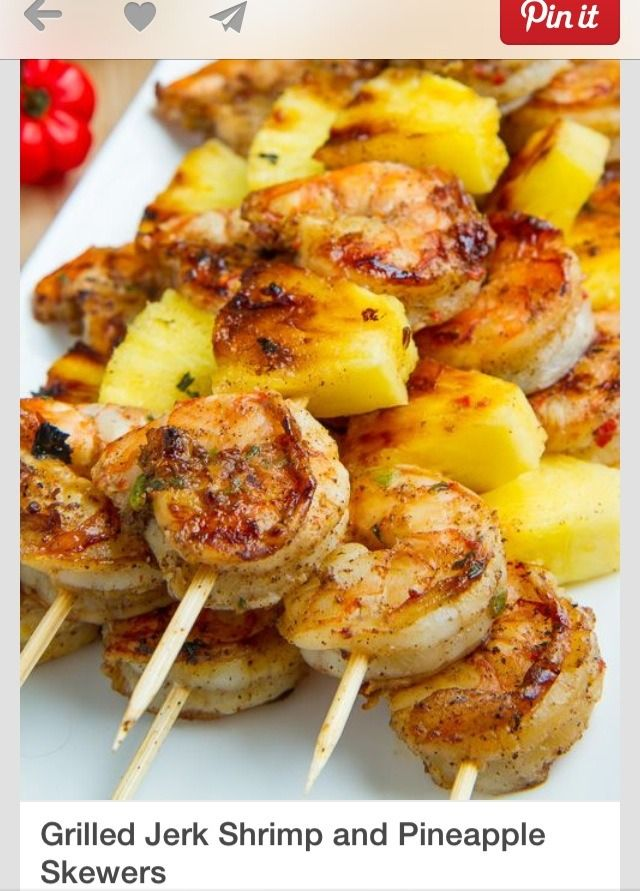 Jamaican Grilled Jerk Shrimp With Pineapple
