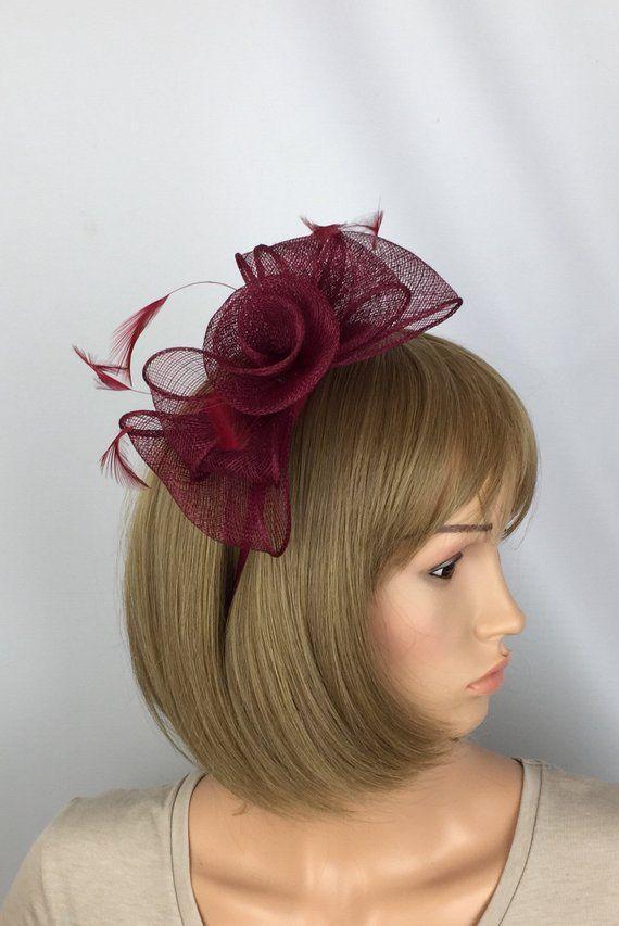 Black Bow Crystal Fascinator Wedding Hair Clip Bridal Festival Party Hen