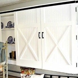 Easy diy barn door tutorial from fourgenerationsoneroof.com