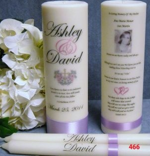 Wedding Unity Candle w/Tapers and Memorial