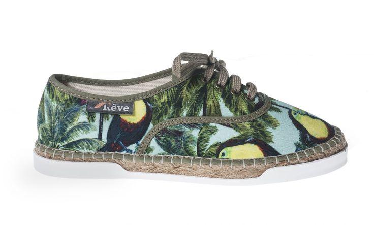 Basket Toucan #toucan #toekan #espadrille #basketespadrille #shoes #ladies #dames #womenshoes #shoelaces #summer #spring   Shop now: http://www.studioreve.nl/product/basket-toucan/