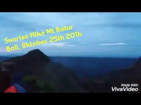 Sunrise hike private tour @ mt batur volcano - october 2016 / bagus bali sunrise trekking - YouTube