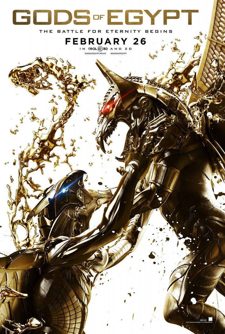Gods of Egypt (2016) Movie Poster - Set, the merciless god of darkness, has taken over the throne of Egypt and plunged the once peaceful and prosperous empire into chaos and conflict. Few dare to rebel against him. A young thief, whose love was taken captive by the god, seeks to dethrone and defeat Set with the aid of the powerful god Horus.