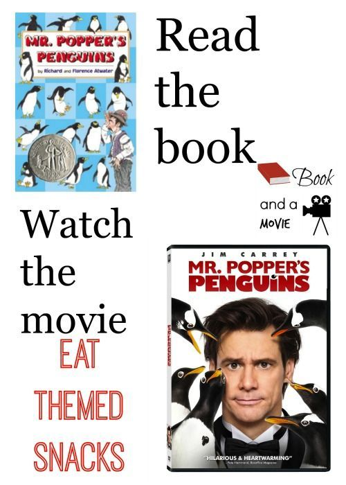 Mr. Popper's Penguins book and a movie night