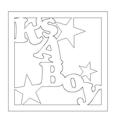 baby boy card on the robo