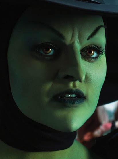 Mila Kunis as Theodora - the Wicked Witch of the West in Oz the Great and Powerful year: 2013  http://www.themakeupgallery.info/horror/witch/ozpowerfulmkm.htm