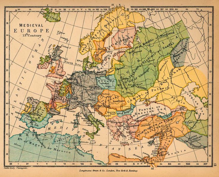 historical map of medieval europe in the century credits university of texas at austin from the public schools historical atlas edited by c