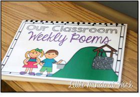 Little Minds at Work: Freebie Kindergarten Weekly Poems
