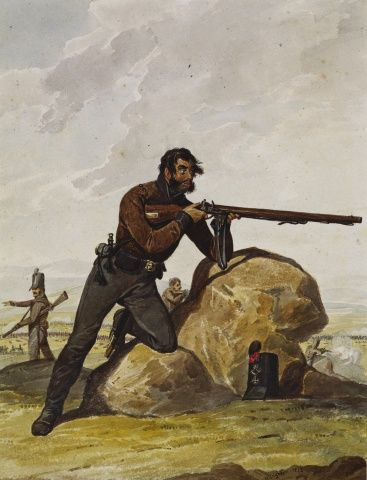 Portuguese Army.  4th Cacadores, 1812.