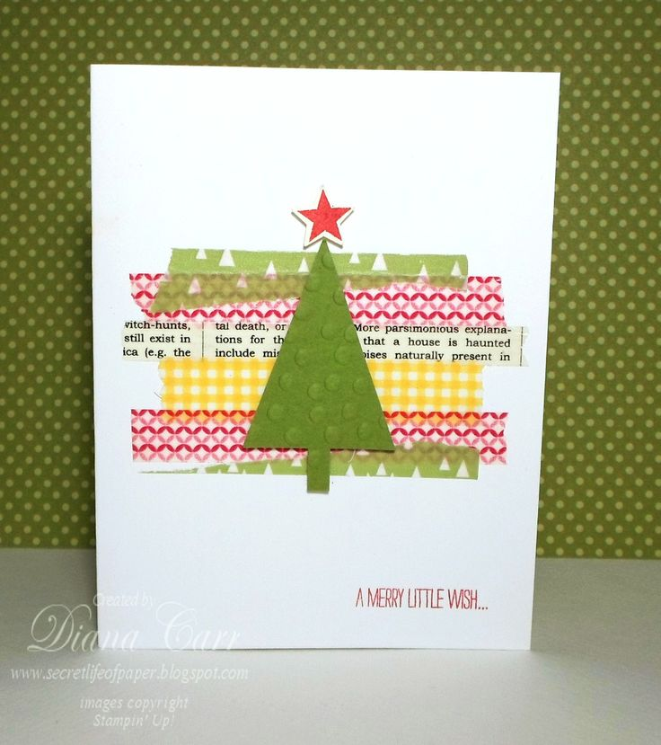 Stampin' Up! Christmas Card - Festival of Trees