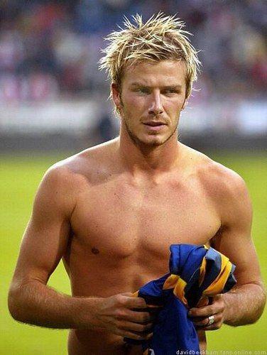 David Beckham - the king of free kicks, David even looks good in a sarong.