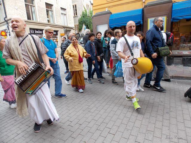 Hari Krishna movement in Stockholm, Sweden.
