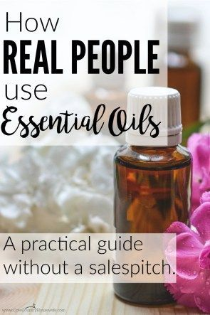 Great ways to use essential oil ~~ that everyone can do! These are great ways…
