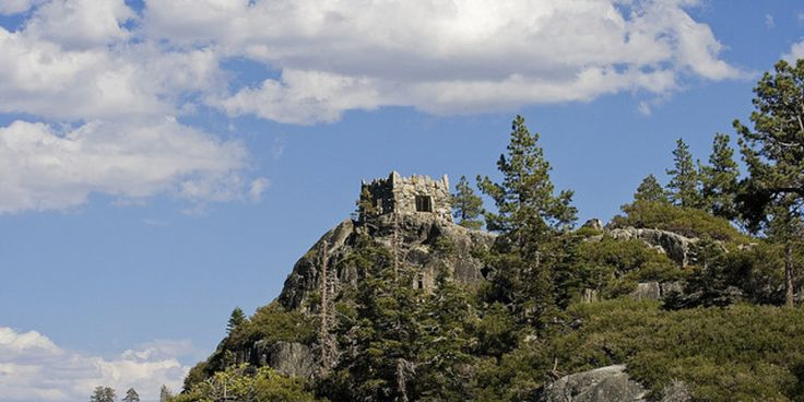 What is this mysterious stone building, abandoned on Lake Tahoe's only island? #travel #roadtrips #roadtrippers