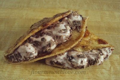 Dessert Tacos~ SOUNDS YUM! 8 (6 inch) flour tortillas, butter, cinnamon and