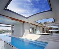 Skylight over pool