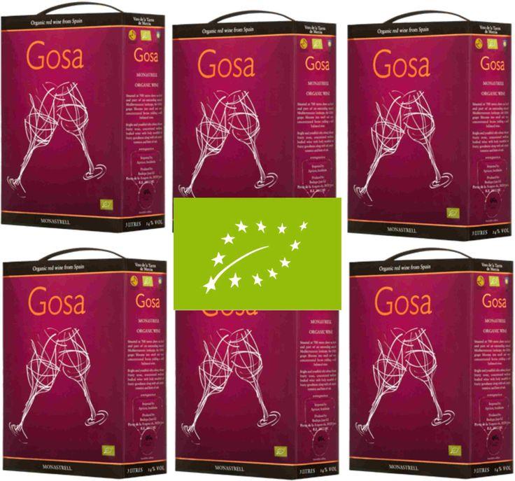 18 LITER Gosa ORGANIC Monastrell Wein BIO WINE Spanien 6x 3 Liter Bag in Boxsparen25.com , sparen25.de , sparen25.info