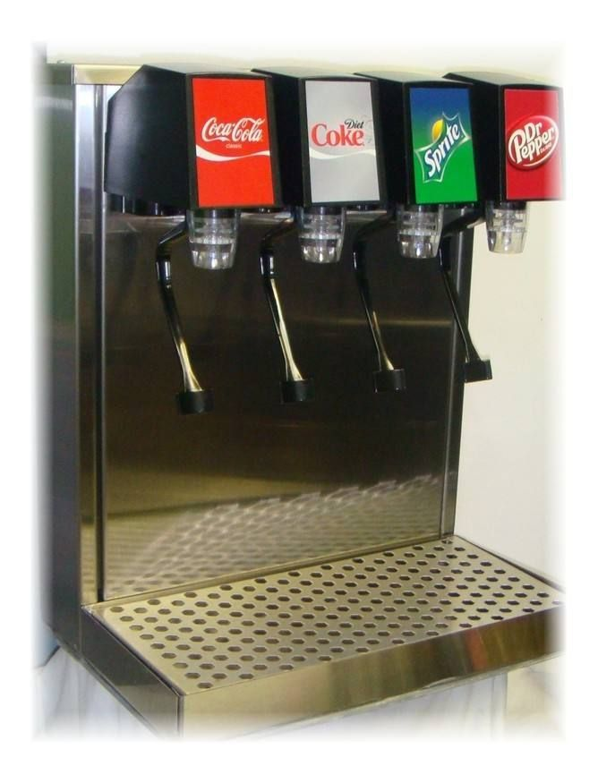 4-Flavor Home Soda Tower System with Remote Cooling
